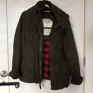 A&F Army Green Jacket